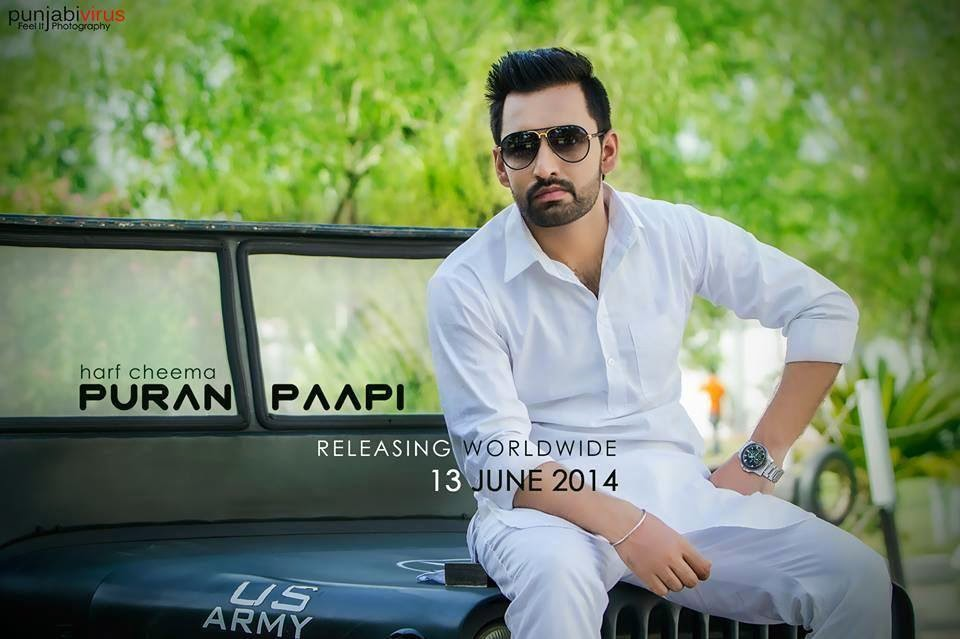 purana paapi lyrics and hd video harf cheema ft bhinda aujla
