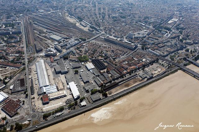 Vue aerienne du quartier Saint Jean Belcier au coeur du projet Euratlantique