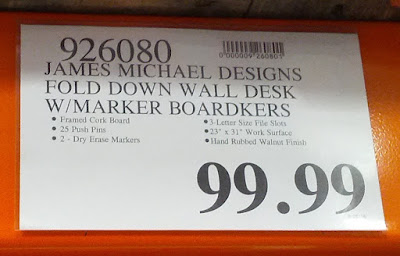 Deal for the James Michael Designs Fold Down Wall Desk at Costco