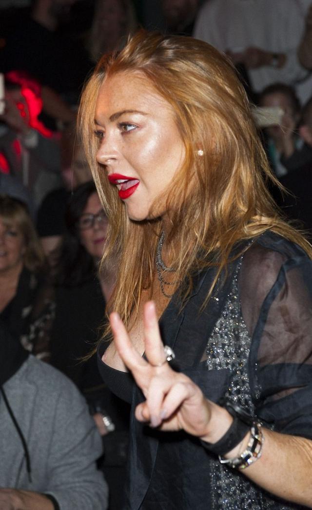 Vemos la teta de Lindsay Lohan