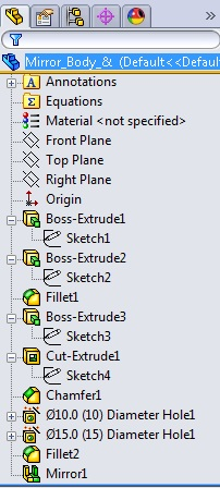 solidworks 2013 feature manager design tree