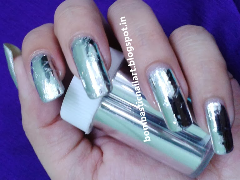 Nail Polish Strips And Art Foils Are Developed To Give Perfect Metallic Finish Nails So I Have Used Foil For My Day 7 Of 30 Days