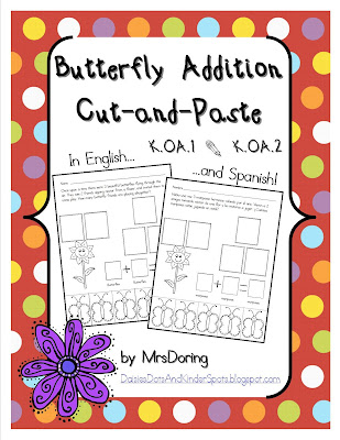 Butterfly Addition Cut-and-Paste Word Problems