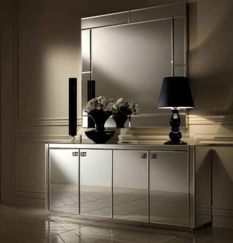Mirrored Nightstand Set Of 2