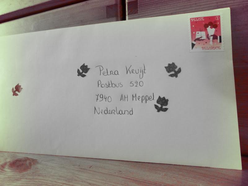 waar postzegel plakken