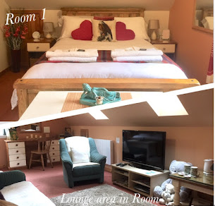 ROOM 1 LARGE DOUBLE ENSUITE WITH LOUNGE AREA IN ROOM
