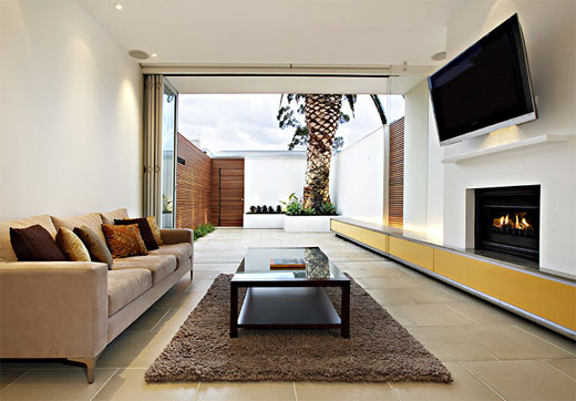 Modern minimalist living rooms photo gallery for Interior design for long living room