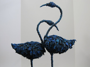 Blue Flamingos