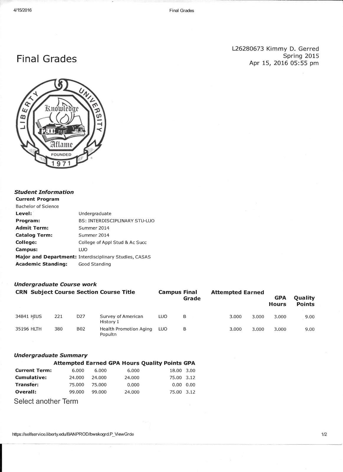 Liberty Grades