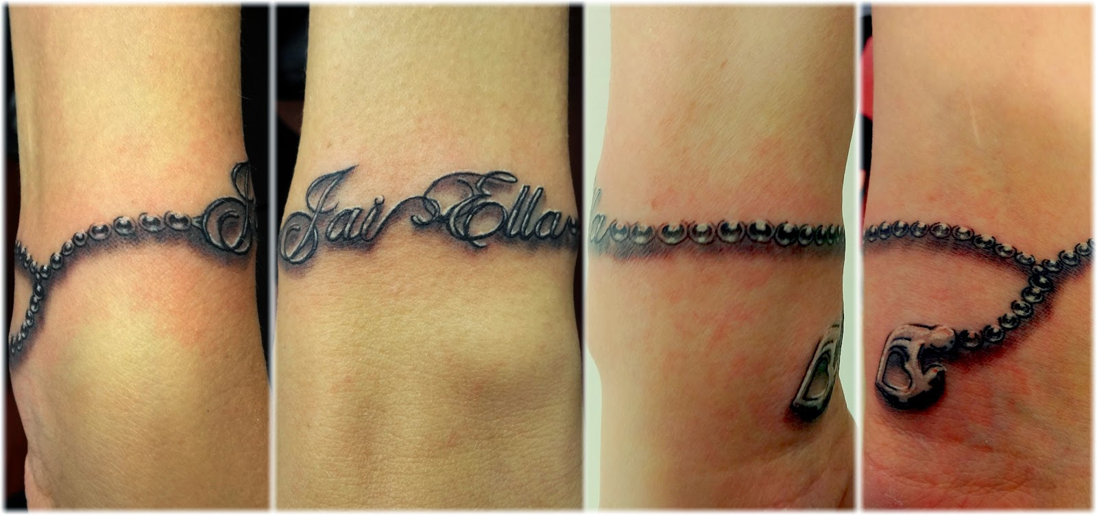 Bracelet tattoos with names hayley 39 s bracelet with