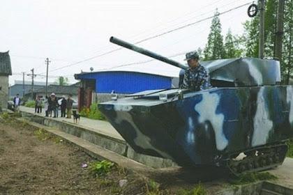 Rayakan Ulang Tahun Anak, Ayah Beri Kado Tank Buatannya