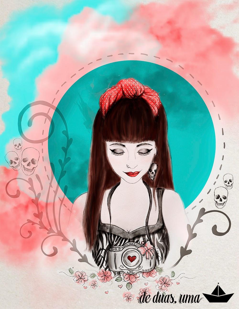 illustration photographer girl deduasuma