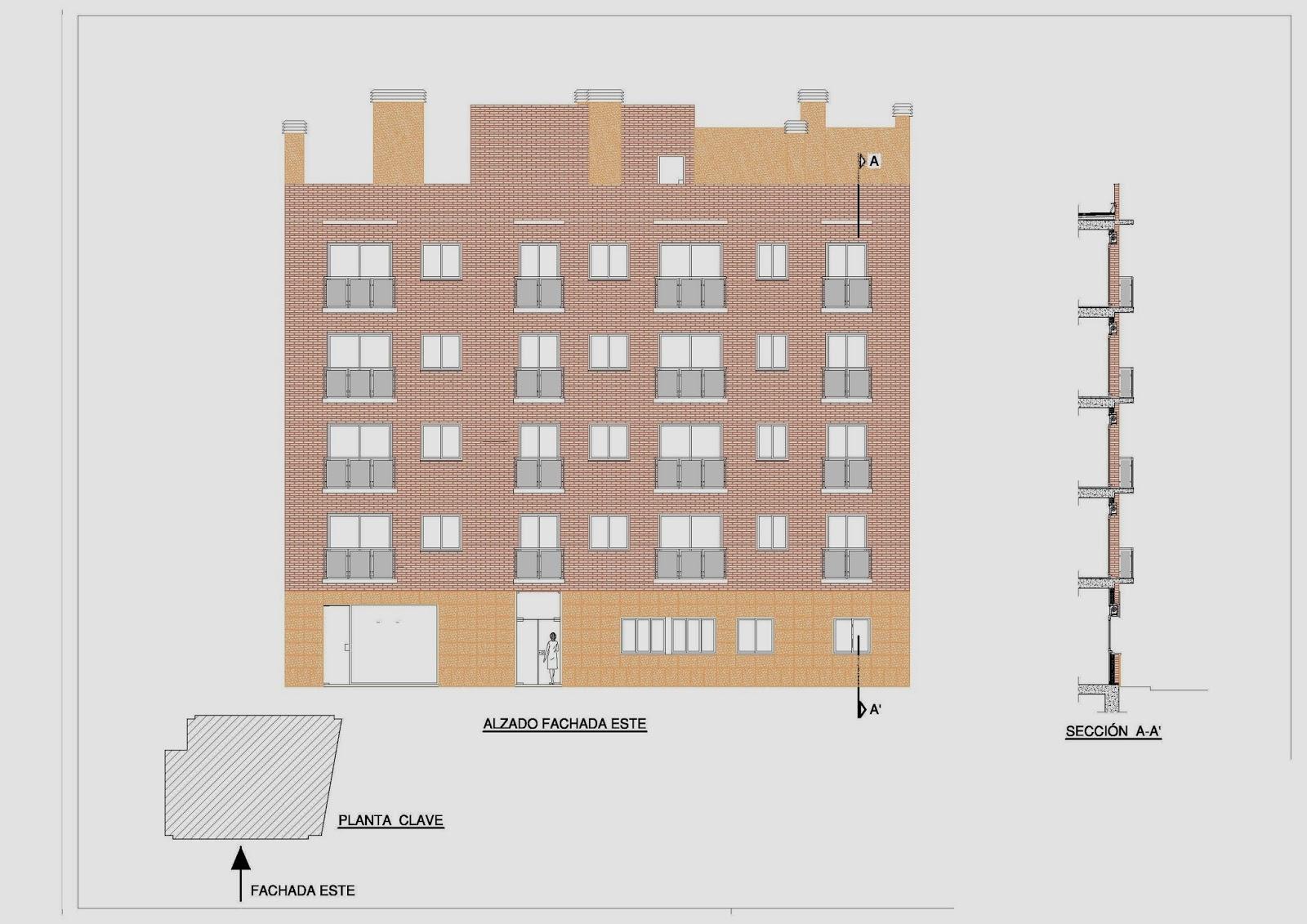 Blog profesional planos de fachadas de un edificio autocad for Planos de fachadas