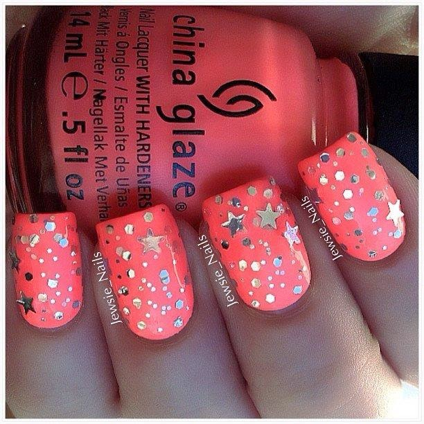 Orange Nails Designs