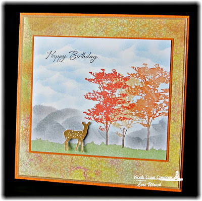 North Coast Creations Stamp sets: Deer Silhouette Greetings, Our Daily Bread Designs Stamp Blooming Garden Paper Collection