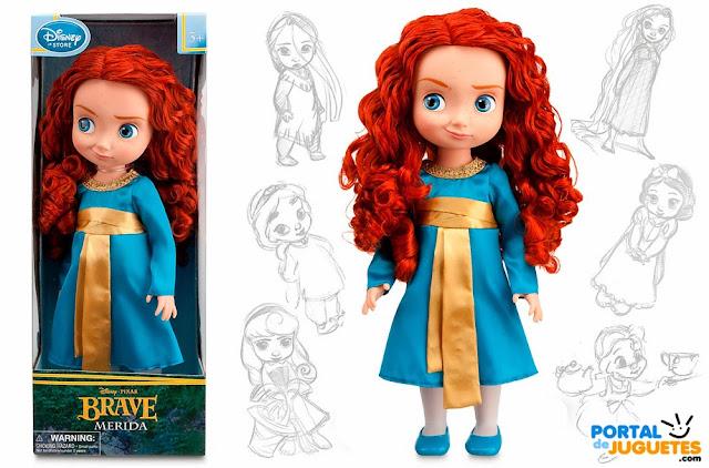 muñeca merida animators caja y posado