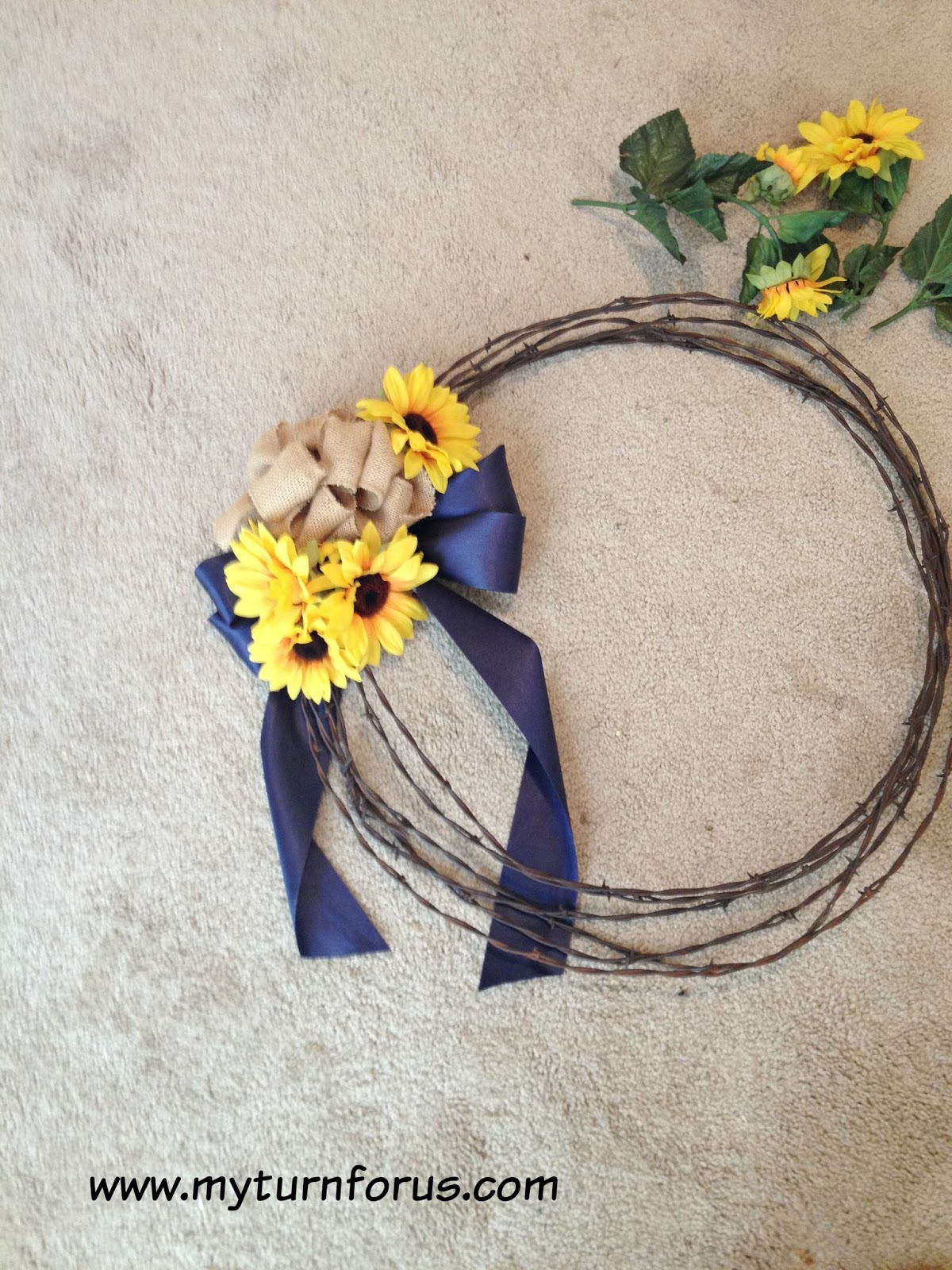 Rustic Barb Wire Wreaths - My Turn for Us