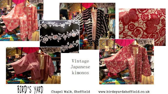 Vintage kimonos, Bird's Yard, Sheffield