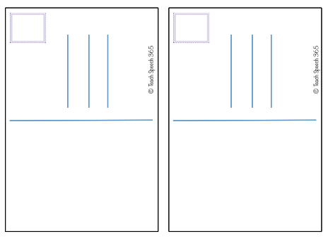 blank postcard for kids postcard templates