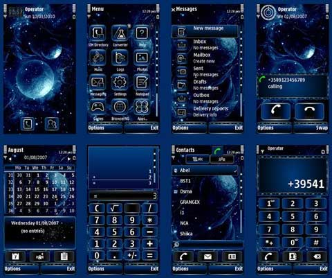 360x640+Symbian+Themes, 360x640+pixels+themes, Nokia+s60v5+themes, Sony+Ericsson+s60v5+themes, Abstract+Space+theme, 360x640+screen+size+themes, themes+for+Symbian+9.4,