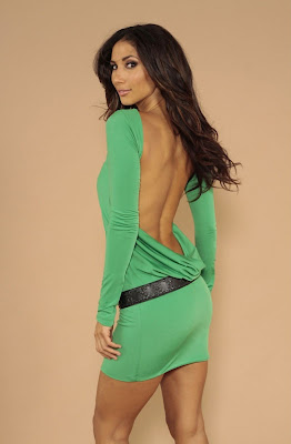 Green backless dresses