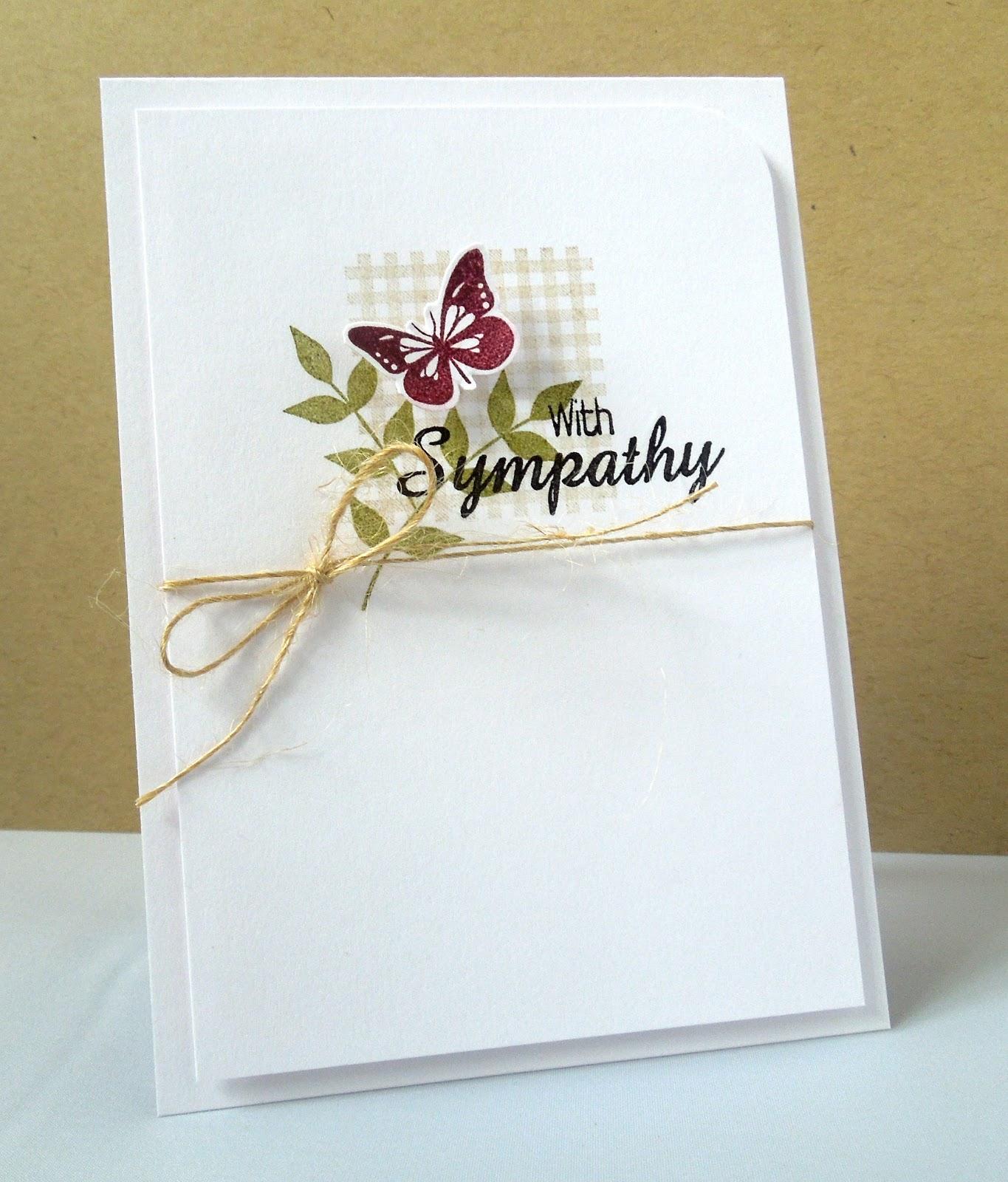 stamping sharing a sympathy card