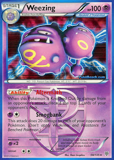 Weezing Plasma Storm Pokemon Card