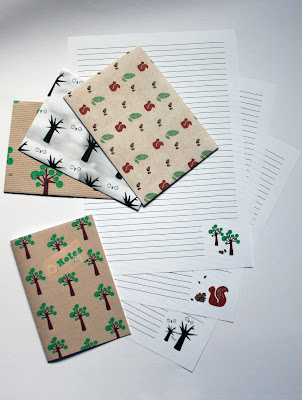 Stationery set 'tree'