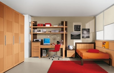 dormitorio juvenil moderno pequeño