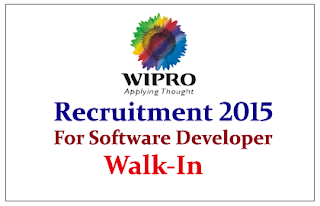 Wipro Limited Hiring for the Post of Software Developer 2015