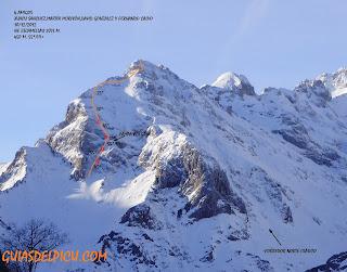Guias de montaña en Picos de europa , alpinismo clasico, guiasdelpicu.com Croquis escamellao
