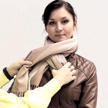 зимен шал връзване