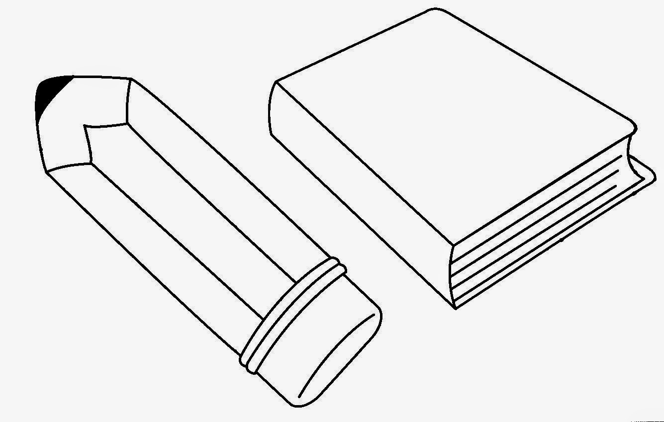 Dibujos para colorear de un lapiz y un libro - Imagui