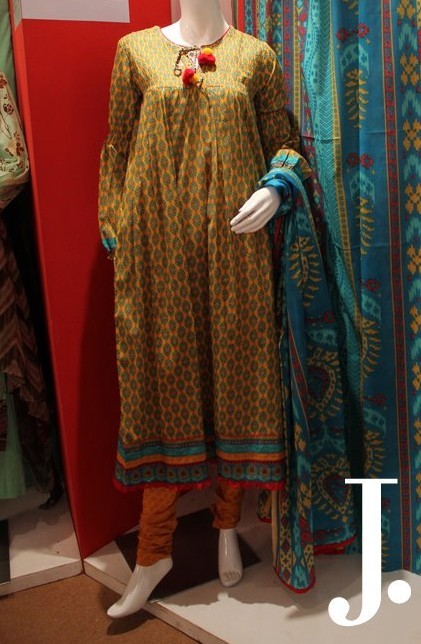 Junaid Jamshed Stitched Lawn Collection For Summer Season 2012 - Junaid Jamsheead Ladies dress 2013 collection