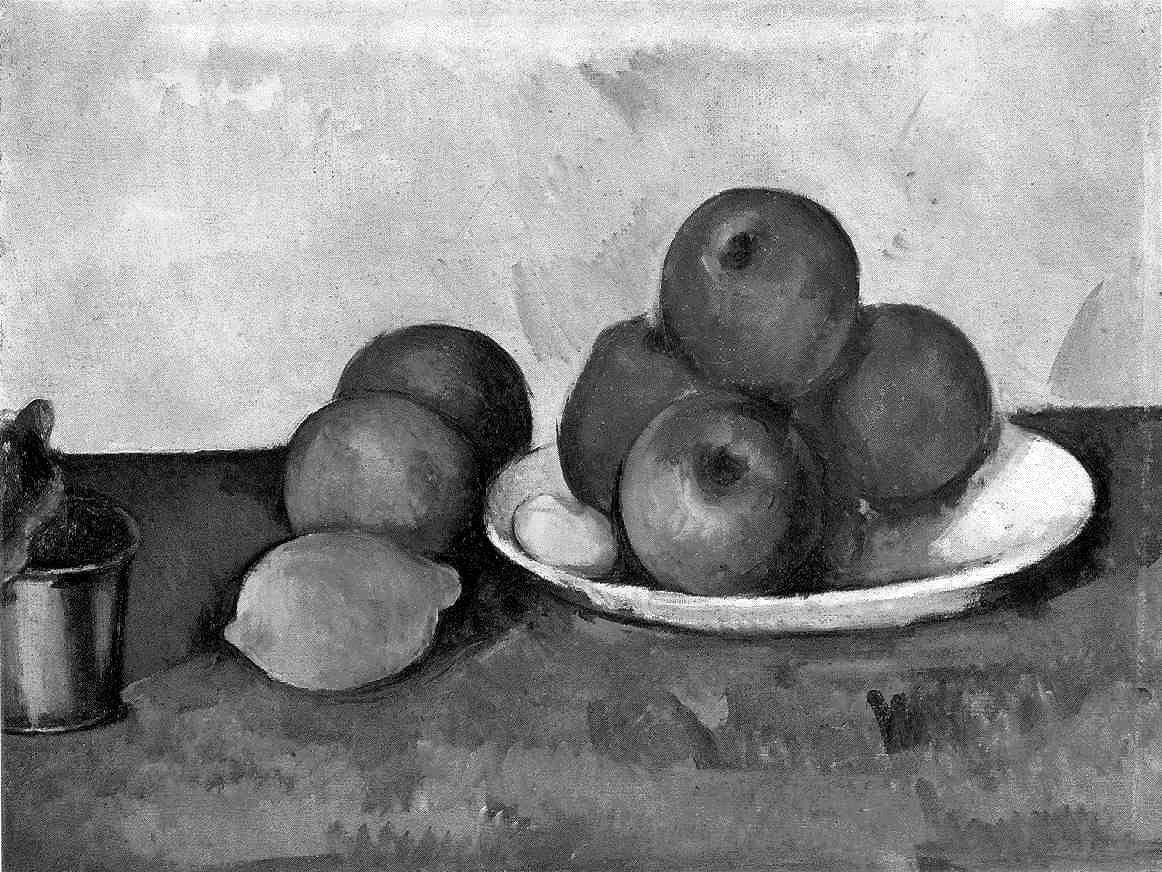 It is also important to note how tone is used to explain how one object sits behind another look at the fruit in the cezanne painting above