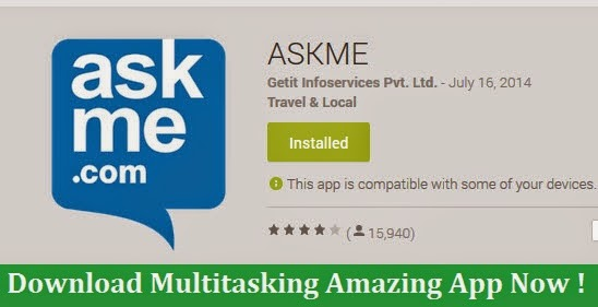ASKME Android App Reviews: Download Multitasking App