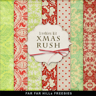 Freebies Kit of Backgrounds - XMas Rush