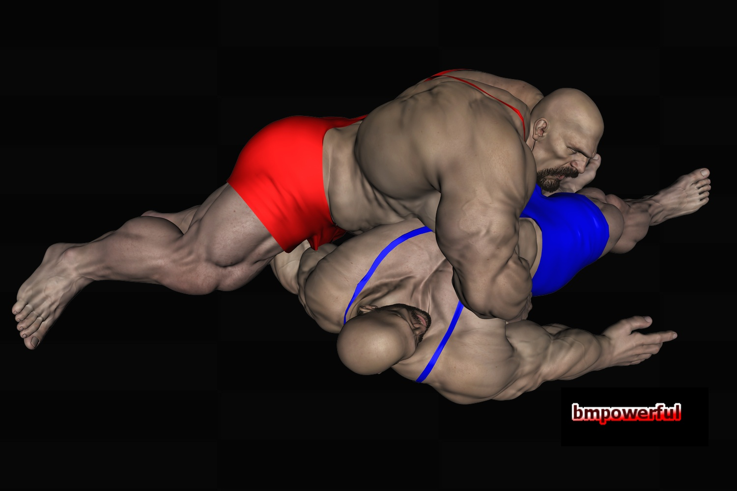 from Greyson 3d art gay wrestling