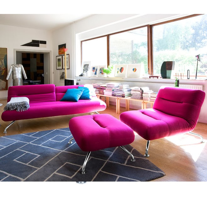Marvelous Pink Grey Living Room - plusarquitectura.info