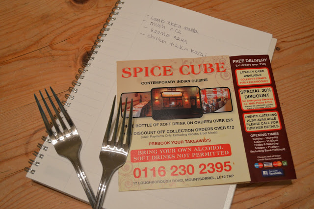 Mountsorrel Spice cube restaurant menu