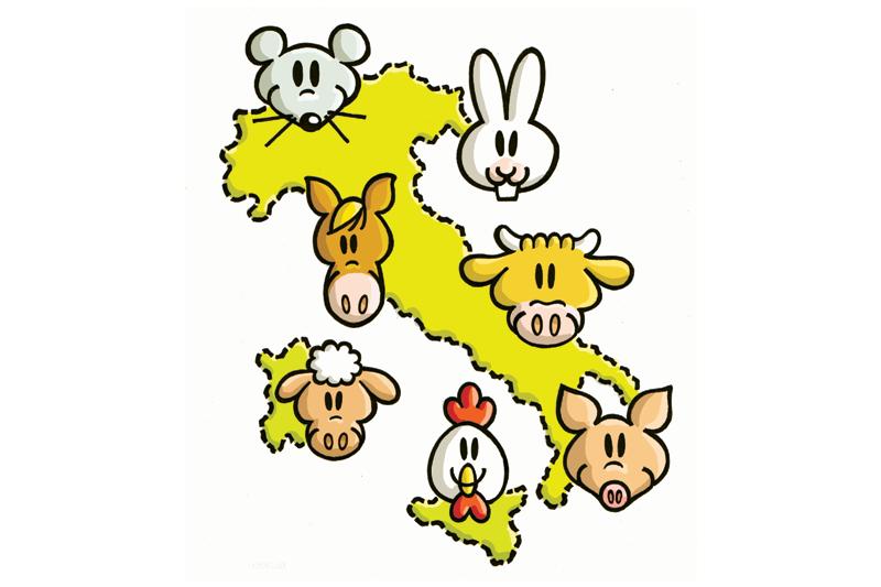 Mappa Santuari di Animali Liberi in Italia