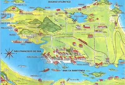 Mapa turístico de São Francisco do Sul