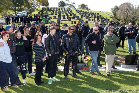 Memorial service at Western Hills Cemetery, Park Island, Napier, for New Zealand SAS Corporal Douglas Grant KIA, aka Duggy Grant, killed in action in Kabul, Afghanistan, in 2011. photograph