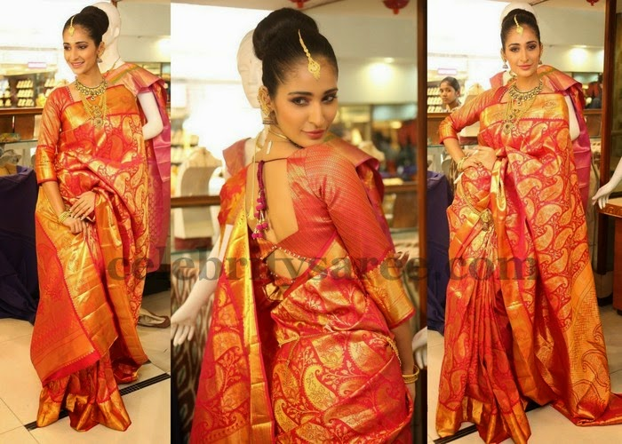 Alankrita Red Bridal Saree