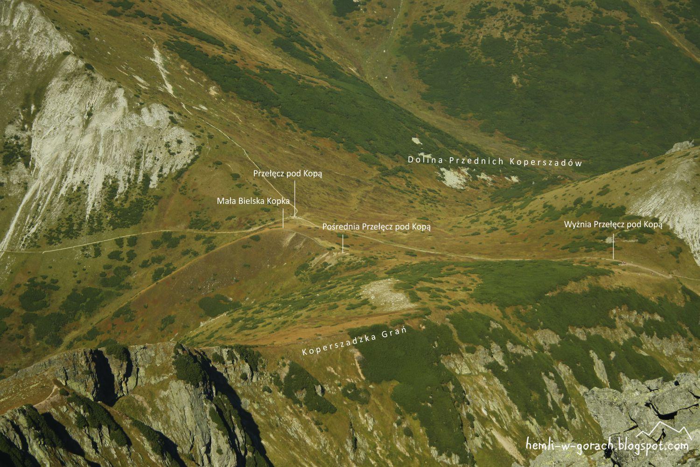 Widok na Przełęcz pod Kopą