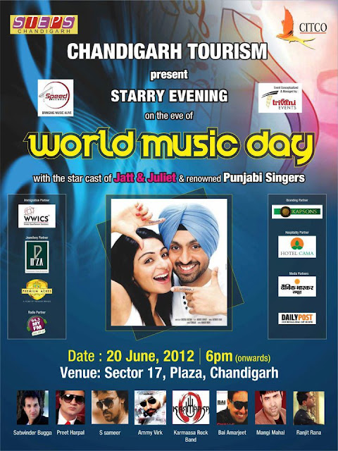 Jatt and Juliet Promotion at Chandigarh 17 Sector, Plaza on 20 June
