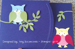 Stampin' Up! two step owl punch card, Edgelits Die, Adorning Accents, two step bird punch