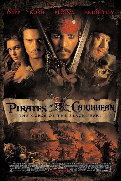 Pirates Caribbean Curse Black Pearl poster