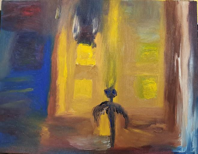 en av mina första oljemålningar