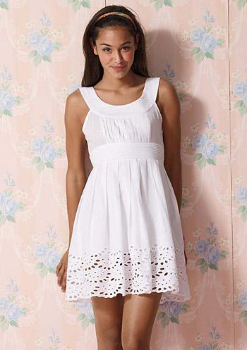 white cotton sundress inrh3Hp5